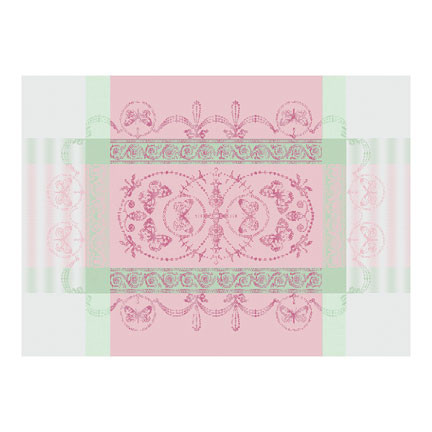 "Eugenie Candy Placemat 21""X15"", 100% Cotton, Green Sweet 