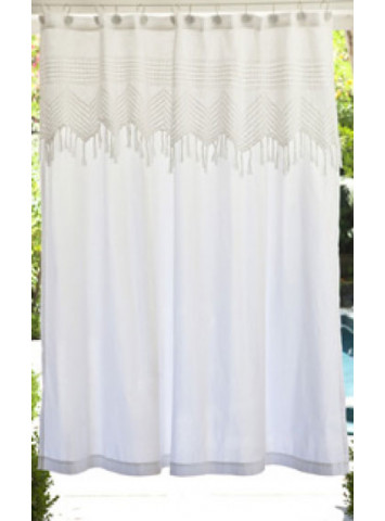 Pom Pom At Home Vintage Crochet Shower Curtain Gracious Style