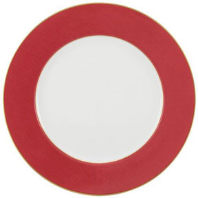 Horizon Red with Gold Filet Buffet Plate 12.25 in Round | Gracious Style