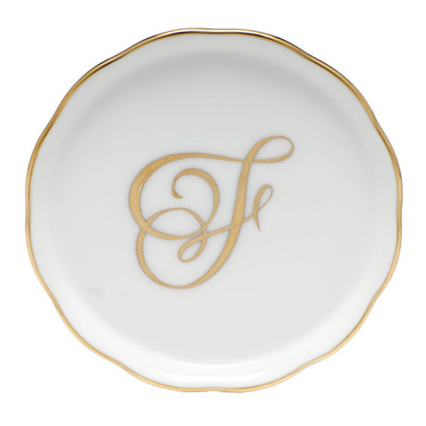 "Linor6 Coaster W/Monogram 4""D 