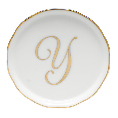 "Linor6 Coaster W/Monogram 4""D | Gracious Style"