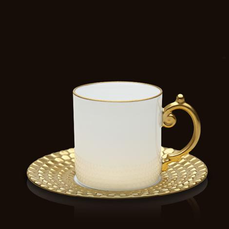 Aegean 24kt Gold Espresso Cup & Saucer | Gracious Style