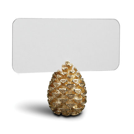 Pinecone Gold Placecard Holders, Six | Gracious Style