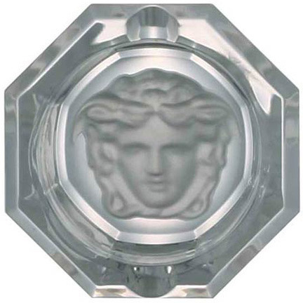 Medusa Lumiere Ashtray, Crystal 3 1/4 inch | Gracious Style