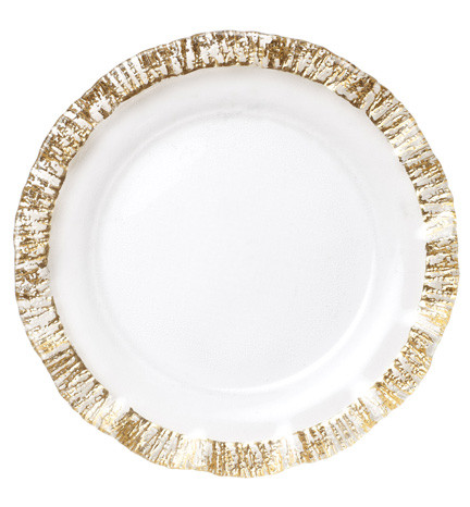 Rufolo Glass Gold Dinnerware | Gracious Style