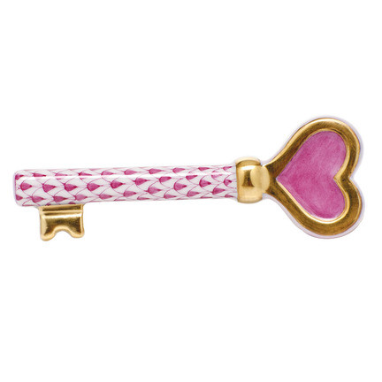 "Key To My Heart 3.5""L X 1.25""W Shaded Vhp 