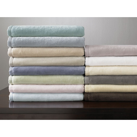 St Moritz Solid Combed Cotton Blankets | Gracious Style