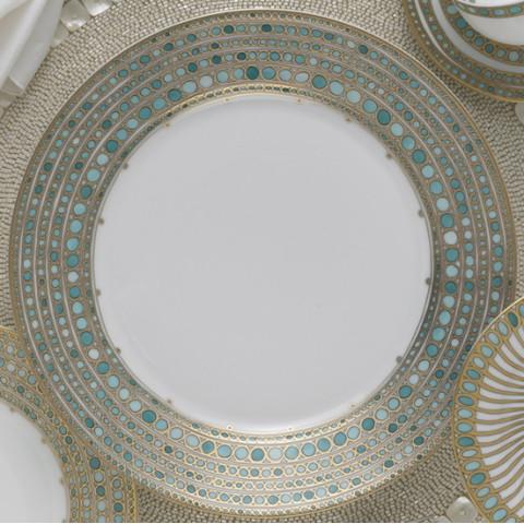 Haviland & Parlon Syracuse Turquoise Dinnerware   Gracious Style
