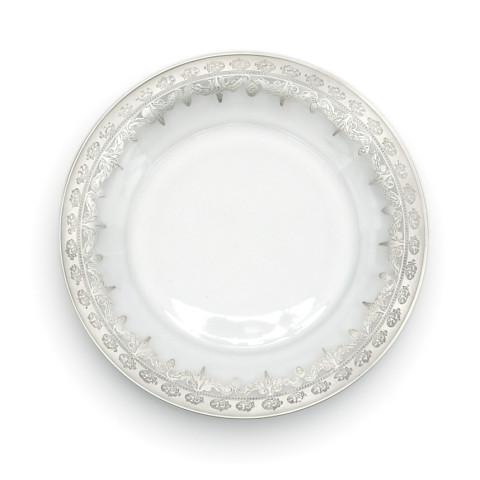 "Vetro Silver Salad/Dessert Plate 8.25"" D | Gracious Style"