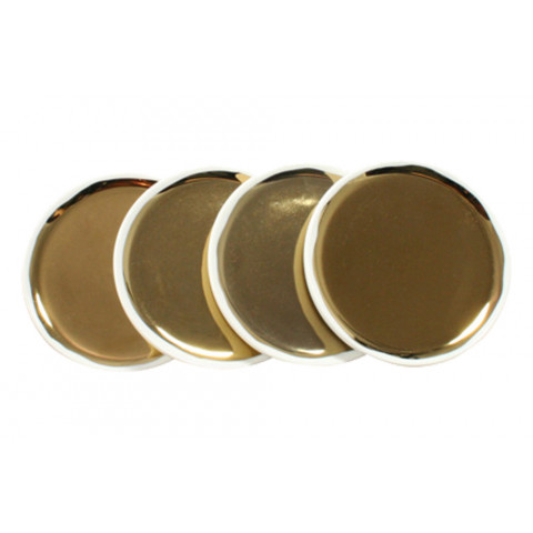 Dauville Coasters Set/4 Gold | Gracious Style