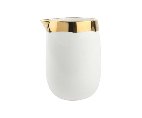 Dauville Pitcher – Gold Rim | Gracious Style