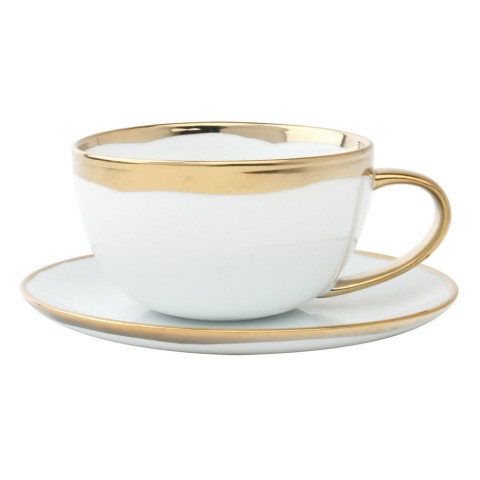 Dauville Cup & Saucer Gold | Gracious Style