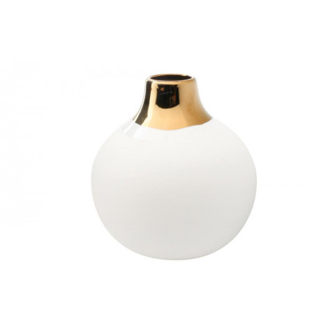 Dauville Bud Vase Wide Top, Topglazed Gold | Gracious Style