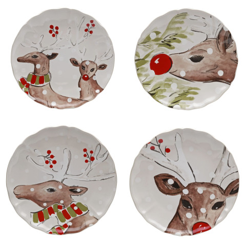 Deer Friends White Dinnerware | Gracious Style