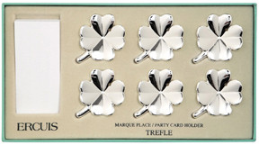 Clover Set of Six Clover Place Card Holders | Gracious Style