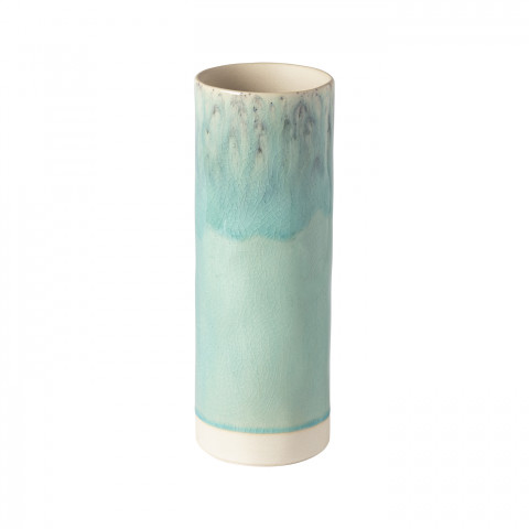 Madeira Blue Cylinder Vase 10 In | Gracious Style