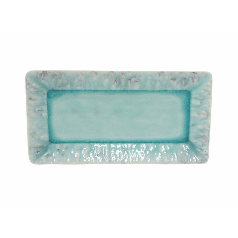 Madeira Blue 13.25 In Rectangular Tray   Gracious Style