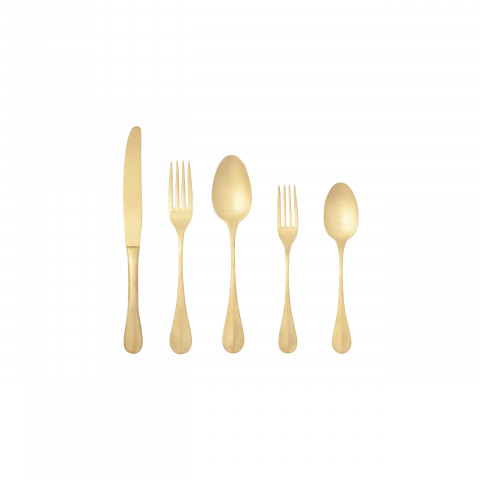 Nau Pvd Gold Flatware 20 Pc Set W/O Box 1 | Gracious Style