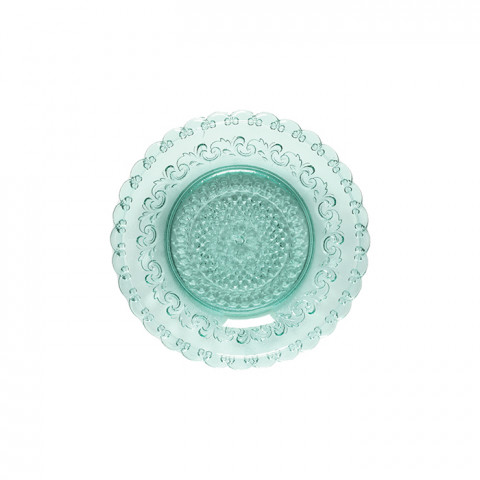 Heritage Aloe Glass Salad Plate | Gracious Style
