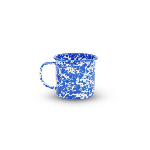 Splatter Blue and White Enamel 12 oz Mug | Gracious Style