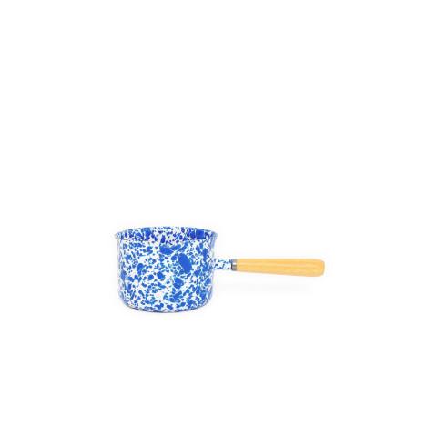 Splatter Blue and White Enamel 22 oz Sauce/Gravy Warmer | Gracious Style