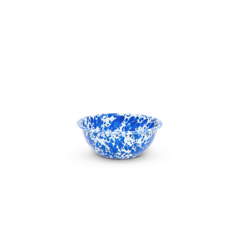Splatter Blue and White Enamel 20 oz Cereal Bowl 6 in | Gracious Style