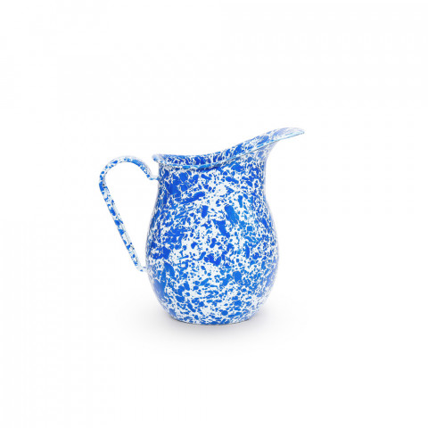 Splatter Blue and White Enamel 3 qt Large Pitcher | Gracious Style