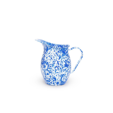 Splatter Blue and White Enamel 1.5 qt Small Pitcher | Gracious Style