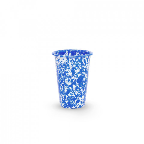 Splatter Blue and White Enamel 14 oz Tumbler | Gracious Style