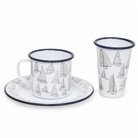Fishs Eddy Sail Boats Enamel Dinnerware | Gracious Style