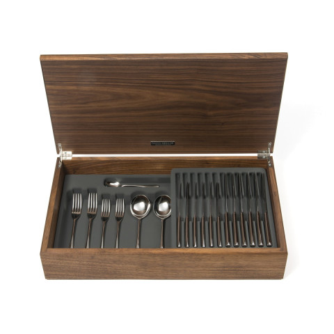 Pride Stainless Steel 88-Piece Canteen Walnut | Gracious Style