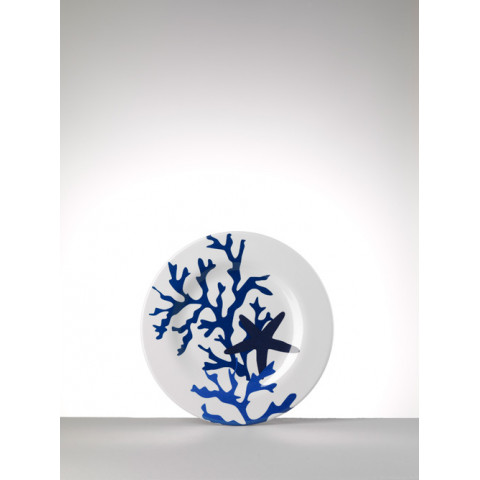 Corallo Melamine Blue Salad Plate 9 in Round  | Gracious Style