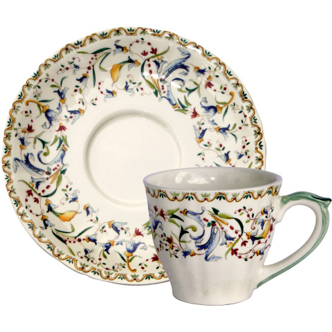 Toscana Us Tea Cups & Saucers 8 1/2 Oz, 6 In Dia, Set of 2 | Gracious Style