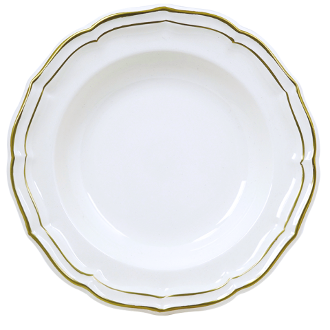 "Filet Or/Gold Rim Soup 9"" Dia 