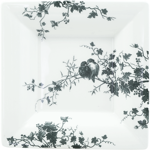 """Les Oiseaux Square Candy Tray Xl 8 3/4"""" Sq 
