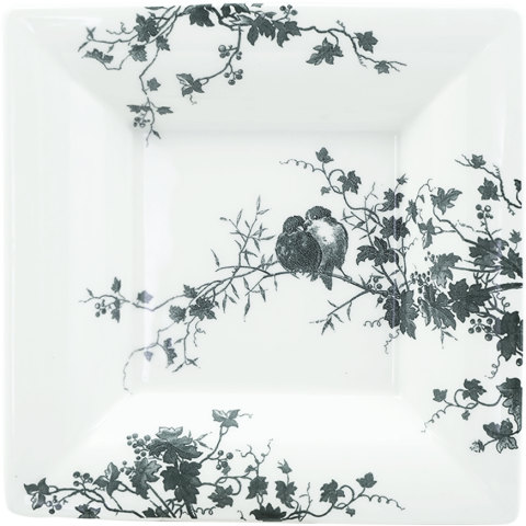"""Les Oiseaux Large Square Candy Tray 6 3/4"""" Sq 