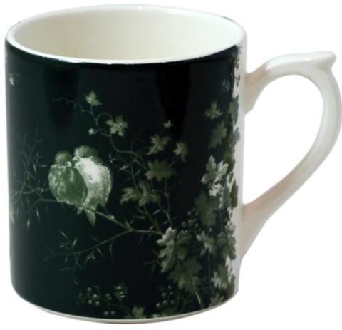 Les Oiseaux Mug Green Background 10 Oz | Gracious Style
