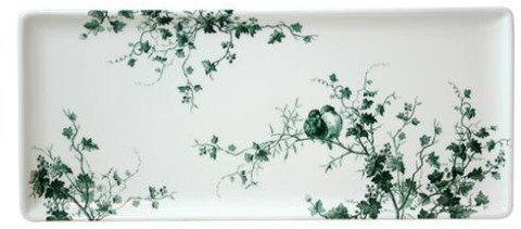 Les Oiseaux Oblong Serving Tray 14 In Long | Gracious Style