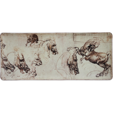 "Leonard De Vinci Oblong Serving Tray 14"" Long 