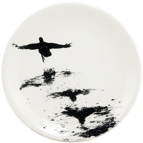 """Chambord Canape Plate Duck 6 1/2"""" Dia 