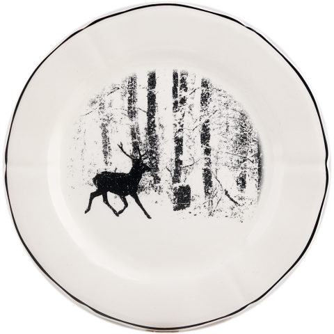 """Chambord Dessert Plate Stag 9 1/4"""" Dia 