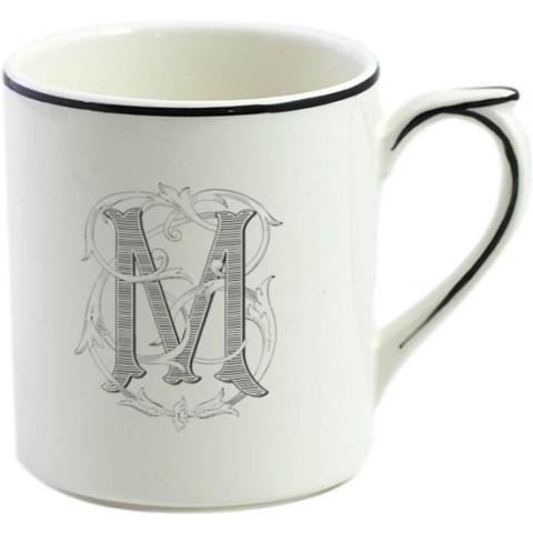 Filet Manganese Monogram Mug | Gracious Style