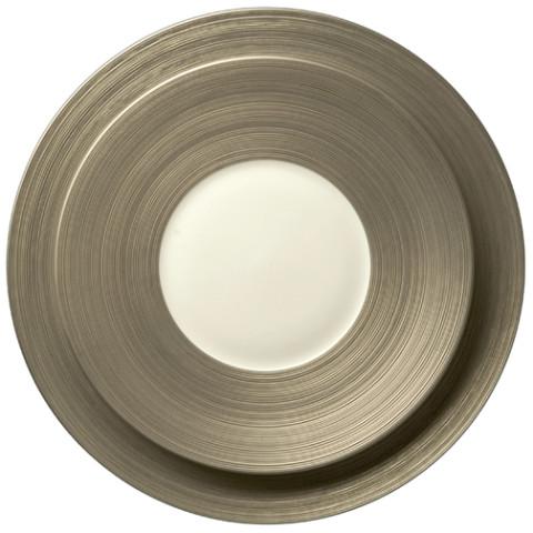 Hemisphere Matte Platinum Dinnerware | Gracious Style