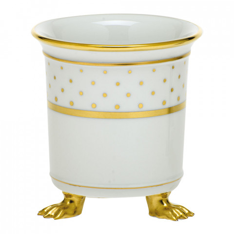 Fodos-x1 Connect The Dots Mini Cachepot W/feet 3.75 in. l X 4 in. h | Gracious Style