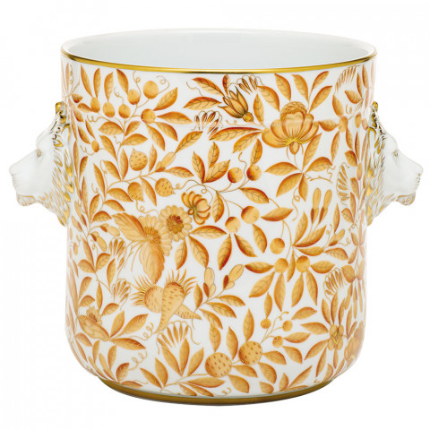 Sp996 Cachepot With Lion Heads 10.5 in. l X 7.75 in. w X 8.5 in. h (Special Order) | Gracious Style