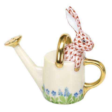 """Watering Can Bunny 3""""L X 3""""H Shaded Vh 