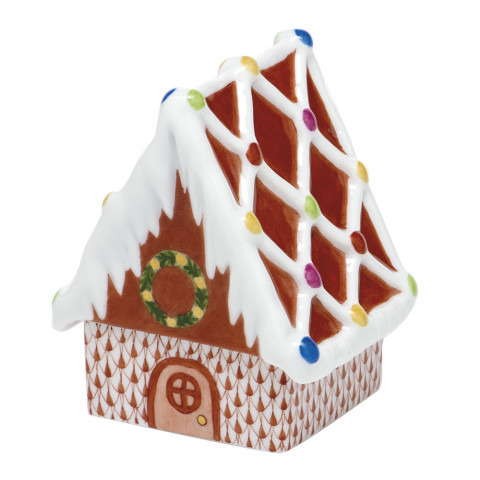 """Gingerbread House 2.75""""L X 3.5""""H Shaded Vh 