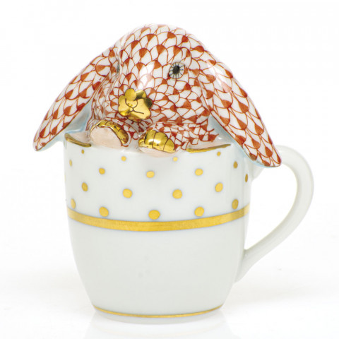 Shaded Vh Tea Cup Bunny 2.25 in. l X 1.75 in. w X 2.5 in. h | Gracious Style