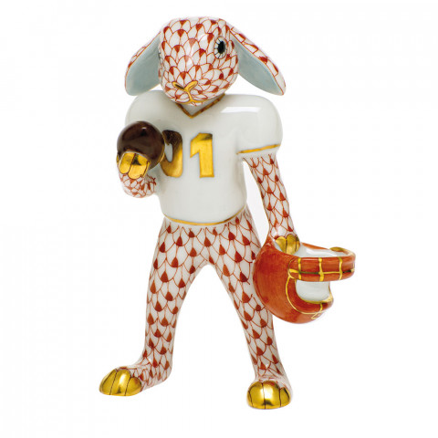 Shaded Vh Football Bunny 2.5 in. l X 1.25 in. w X 3.75 in. h | Gracious Style