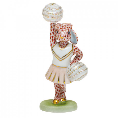 Shaded Vh Cheerleader Bunny 2.25 in. l X 1.5 in. w X 4.75 in. h | Gracious Style